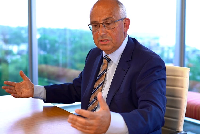 NDP Leader Gary Burrill answers questions during a recent editorial board meeting with Saltwire journalists. — CONTRIBUTED