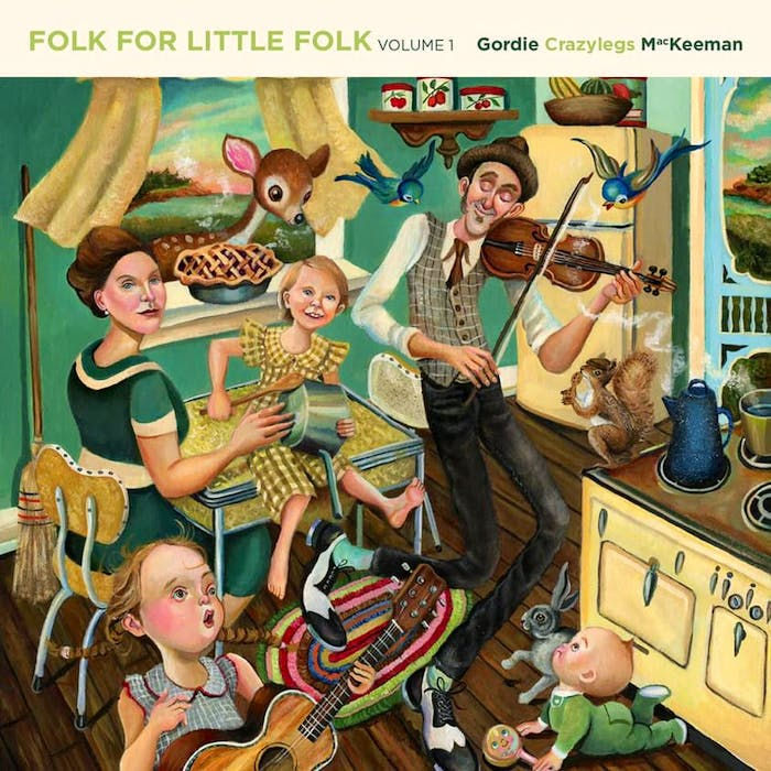 Toronto artist Jeremy Bruneel did this painting of Gordie MacKeeman and his family having a kitchen party in their Charlottetown home. It is also the main artwork on MacKeeman's upcoming solo album, Folk For Little Folk. - Dave Stewart