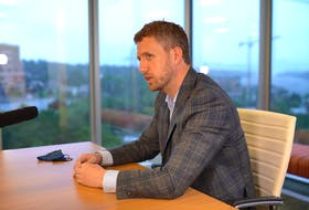 Liberal Leader Iain Rankin answers questions during a recent editorial board meeting with Saltwire journalists. — CONTRIBUTED