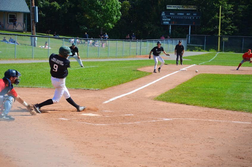 Jonathan Arsenault had two hits, scored two runs and drove in a run for the Charlottetown Gaudet's Auto Body Islanders in Game 3 of the New Brunswick Senior Baseball League's best-of-seven semifinal series in Saint John on Aug. 31. The Alpines pulled out a 5-4 decision in 11 innings. Game 4 is at Memorial Field in Charlottetown on Sept. 1 at 8 p.m. - Jason Simmonds