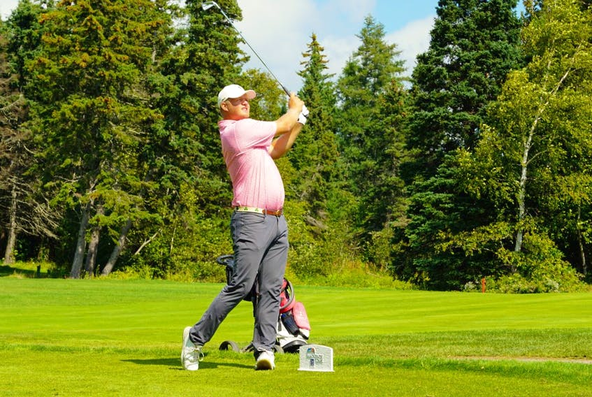 Riley Goss of Toronto led the 54-hole Brudenell River Classic by one stroke following the opening round of play on Aug. 31. The 54-hole event is taking place at the Brudenell River Golf Course. Rob Leth, Mackenzie Tour - PGA TOUR Canada