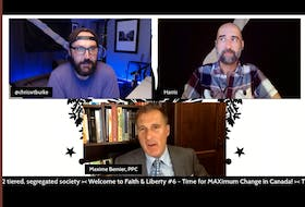 People's Party of Canada leader Maxime Bernier appeared on an online livestream hosted by P.E.I. supporters on Thursday night. The appearance occurred an hour before a nationally televised leader's debate; Bernier was not permitted to participate in this debate.