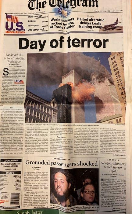 The Telegram's Sept. 12, 2001, edition. - File Photo