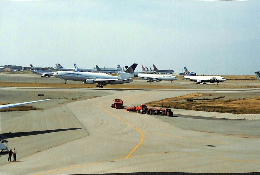 Runways were crowded at Gander International Airport following the 9/11 attacks. — SaltWire Network file photo - Saltwire network