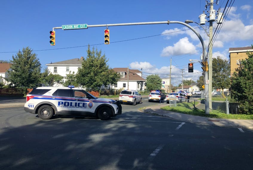 As a result of containment by Royal Newfoundland Constabulary officers, Cashin Avenue was closed from Mundy Pond Road to Froude Avenue, while Campbell Avenue was closed from Cashin Avenue to St. Clare Ave.