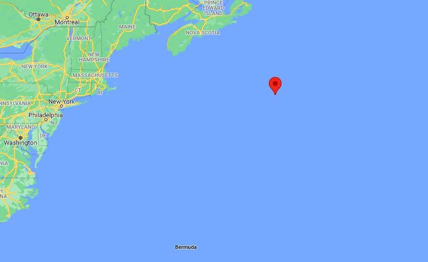Secret Plans, Graham Collins' boat, last known location was transmitted far off the coast of Nova Scotia and Cape Cod on Friday, Sept. 10, 2021, before the personal locator beacon's battery died. - Google  Maps