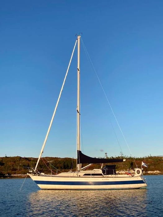 Graham Collins' boat, Secret Plans, was believed to have been stolen Wednesday night, Sept. 8, 2021, from the Armdale Yacht Club in Halifax. - Contributed