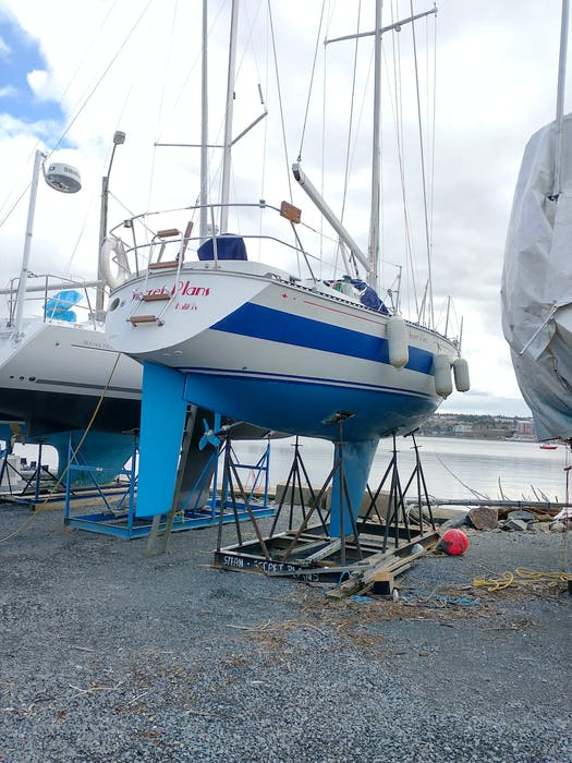 Graham Collins' boat, Secret Plans, is believed to have been stolen from the Armdale Yacht Club on Wednesday night, Sept. 8, 2021. - Contributed