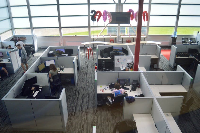 The new 45 Drives building offers employees an open concept in which every workstation gets an abundance of natural sunlight through the installation of specially-designed windows by Sydney's Advanced Glazing Ltd. DAVID JALA/CAPE BRETON POST - David Jala