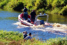 After a swimmer was caught by a strong current on the afternoon of Sept. 11, the Annapolis Royal Fire Department was called on to assist with the RCMP's search efforts.  ADRIAN JOHNSTONE