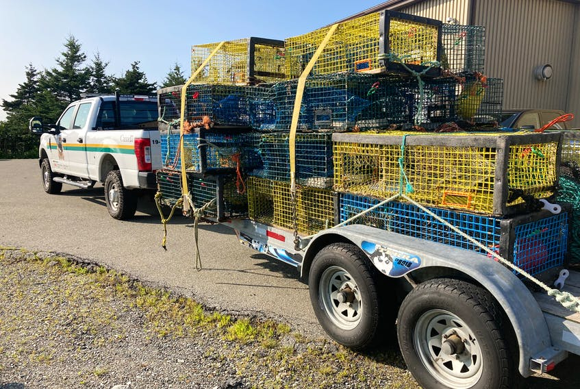 Pictured are traps belonging to First Nation fishers that were hauled and seized by DFO when Sipekne'katik launched its treaty fishery on St. Mary's Bay in August.
