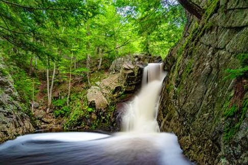 Last week, a good flow from the recent rain from the remnants of Ida created a lot of foam. Barry Burgess decided to use a long exposure to blur the motion of the water and foam. This stunning scene unfolded at Lower Shingle Mill Falls, New Germany, N.S