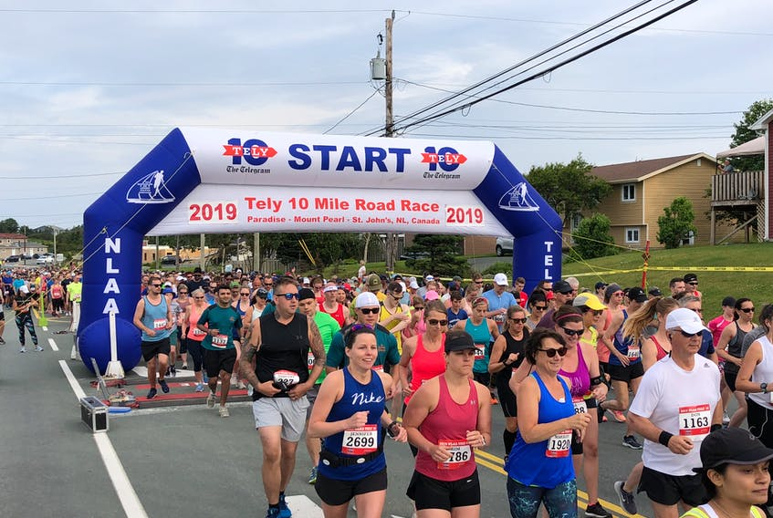 The Tely 10 Mile Road Race (returning Oct. 31, 2021) is believed to be the third oldest 10-mile road race in Canada and one of the oldest in North America. - Photo Contributed.
