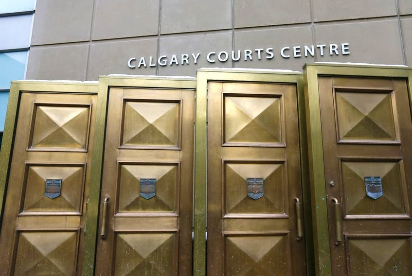 Front entrance of the Calgary Courts Centre.