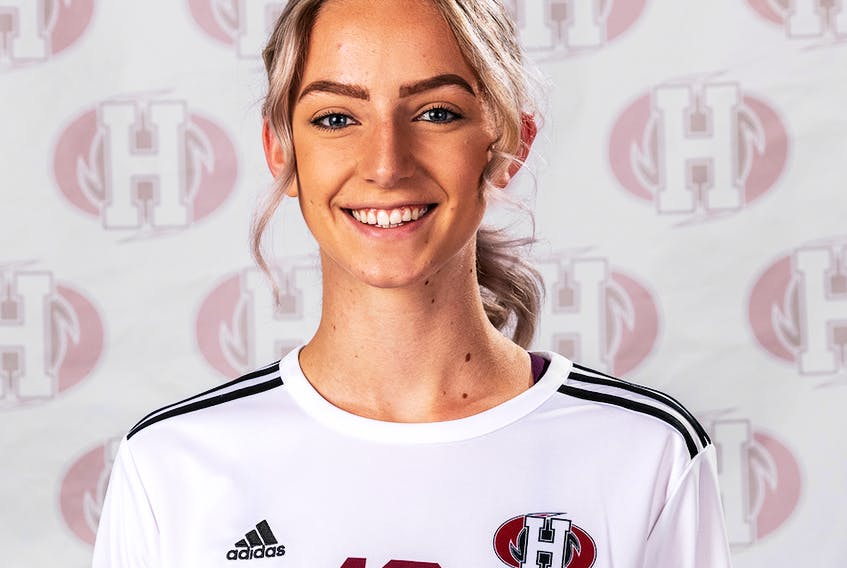 Soccer player Emily Lepine was selected the Holland Hurricanes' female athlete of the week.