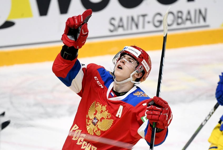 Leafs prospect Rodion Amirov is back on the ice in Russia after suffering a collarbone injury in August. REUTERS