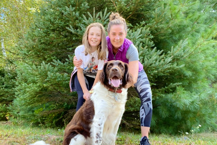 Cancer survivor Angela Carmichael and her daughter, Alison (Ali) MacLean, plus their dog, Duke, participated in the 2020 Terry Fox Run and raised $2,186. They're hoping to raise $5,000 this year.