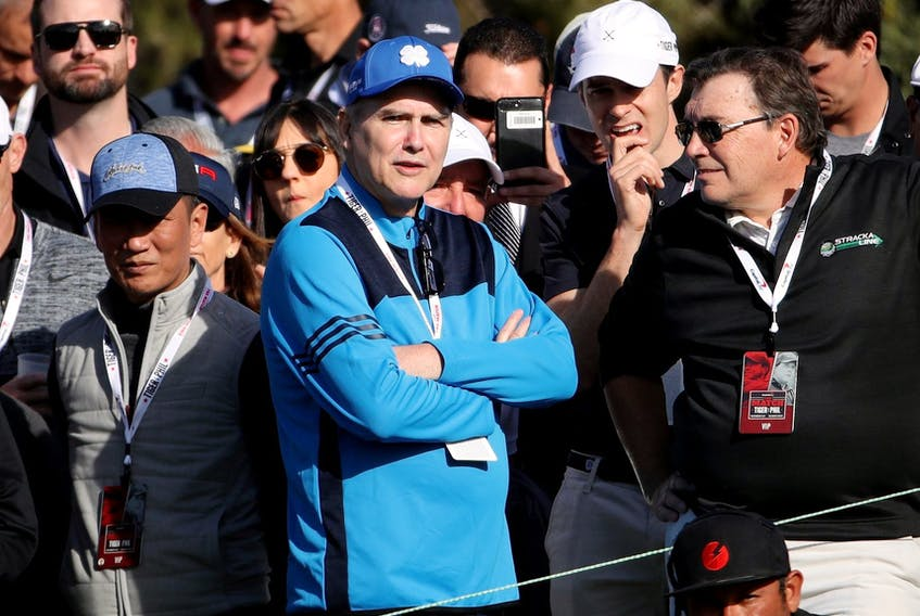 Comedian Norm Macdonald during The Match: Tiger vs Phil at Shadow Creek Golf Course on November 23, 2018 in Las Vegas, Nevada.