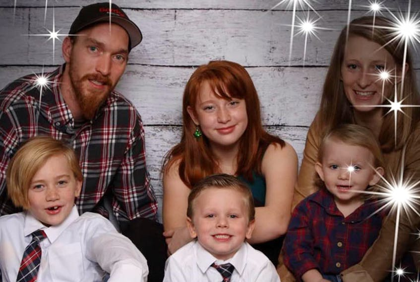 Amherst family R.J. Sears, 30, Michelle Robertson, 28, and children Madison, 11 (centre); Ryder, 8; Jaxson, 4; and C.J., 3, were killed in a fire Sunday, Sept. 12, in Cumberland County.