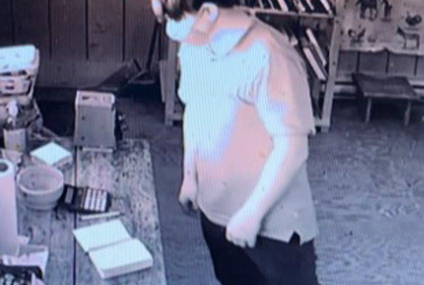 Kings District RCMP is searching for a suspect in connection with several mischief and theft incidents in the Gaspereau Valley area. Police described the suspect as having dark hair and can be seen on video surveillance wearing a light-coloured collard shirt and dark pants.