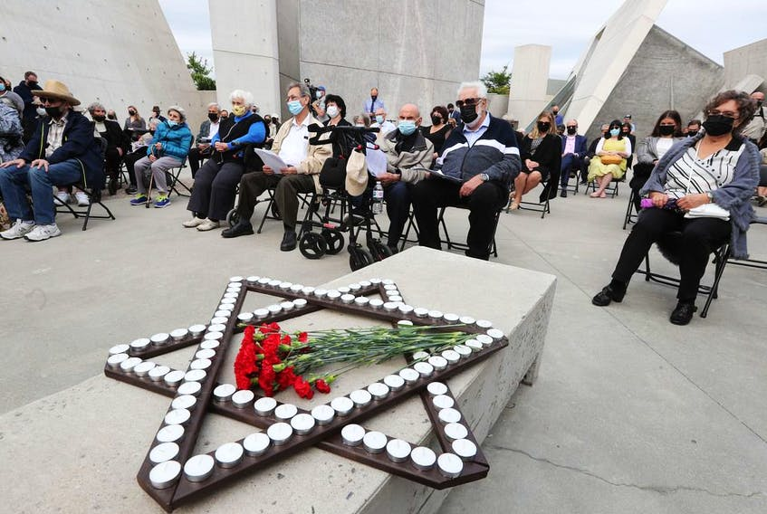 Tuesday's memorial ceremony marking the Babi Yar massacre in Ukraine in 1941 was held at the National Holocaust Monument in Ottawa.