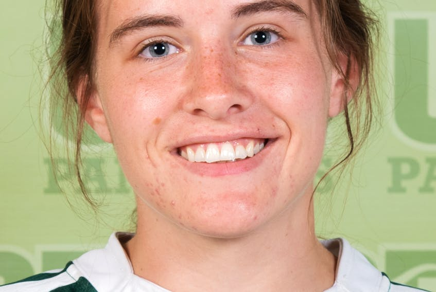 UPEI rugby player Mia Fradsham has been named the Subway Atlantic University Sport (AUS) female athlete of the week for the week ending Sept. 12, 2021.