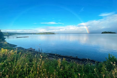 Carol Rankin sent this photo taken by Kelsey Moore at Dundee, N.S. just before the wedding of Alyson Woods and Robert Shea of Halifax. I hope they went looking for the pot of gold. Hopefully, a beautiful rainbow like this will be an omen for a prosperous union.