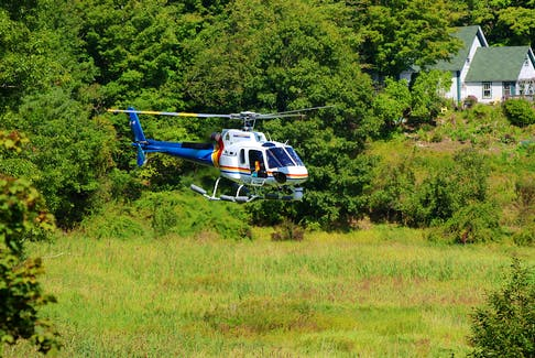 The RCMP used a helicopter on Sept. 14 to search for a missing swimmer above the Annapolis River near Middleton. Adrian Johnstone