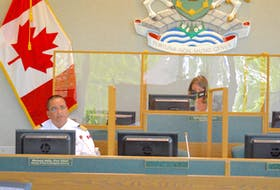 Michael Seth, director and chief of CBRM Fire and Emergency Services, addresses the fire and emergency services committee Wednesday. Chris Connors/Cape Breton Post