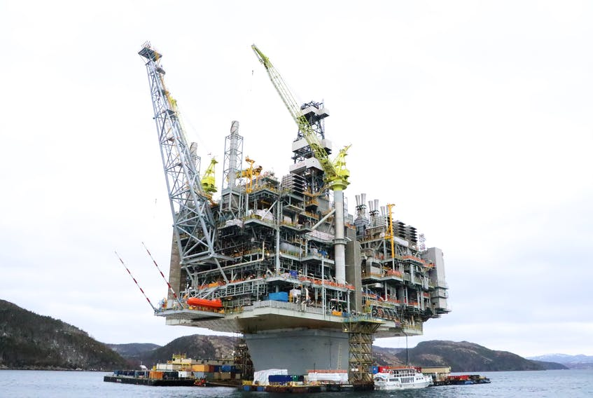 Canada-Newfoundland and Labrador Offshore Petroleum Board reported a near miss aboard the Hebron platform on Sept. 14.