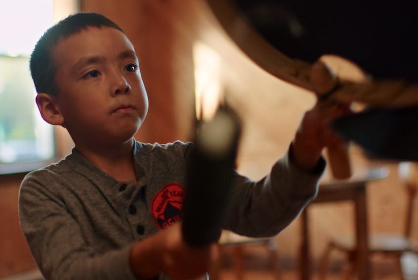 Evan Winters and his journey towards becoming an Inuit drum dancer like his mother Amy inspired Labradorian Ossie Michelin's short film Evan's Drum.