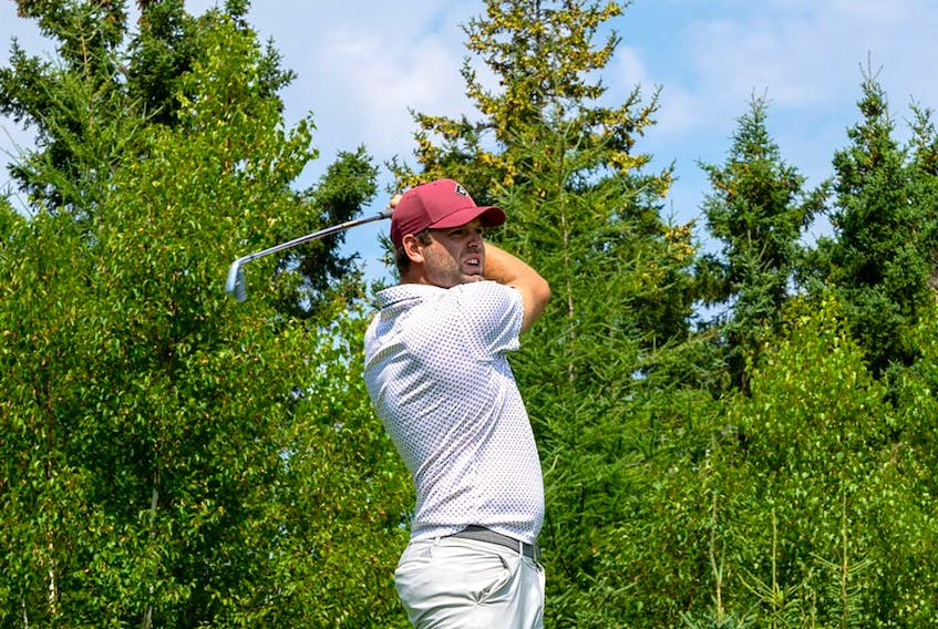 Anthony Brodeur, son of one of the greatest goaltenders in hockey history, is teeing it up at the Mackenzie Tour-PGA Tour Canada's ATB Financial Classic in Calgary.