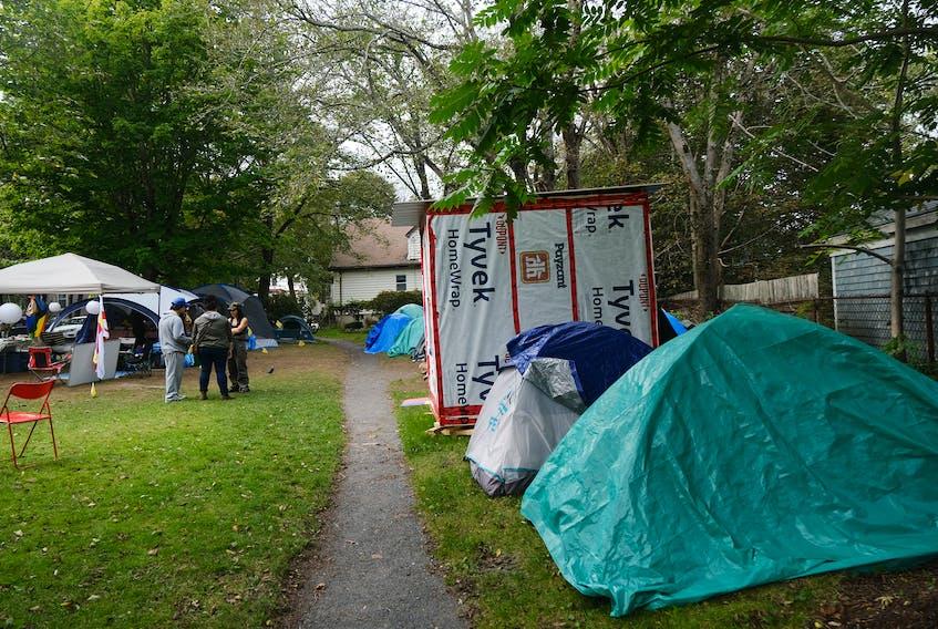 The Meagher Park shelter site.... in Halifax Wednesday September 15, 2021.TIM KROCHAK PHOTO