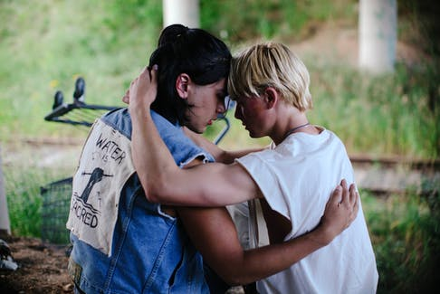Pasmay (Joshua Odjick) and Link (Phillip Lewitsky) form a strong Two Spirit bond in Bretten Hannam's moving new feature Wildhood, which opens the FIN Atlantic International Film Festival on Thursday. - Riley Smith