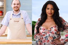 Two Canadian reality challenge shows get an East Coast flavour with the addition of Dartmouth mental health researcher Dougal Nolan to season five of The Great Canadian Baking Show on CBC and Halifax real estate student Sasanet Iassu to the first season of Citytv's Bachelor in Paradise Canada. Both shows premiere their new seasons in October. - CBC/Citytv