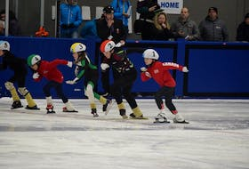 Speed skaters began a race during the 2019-20 season.