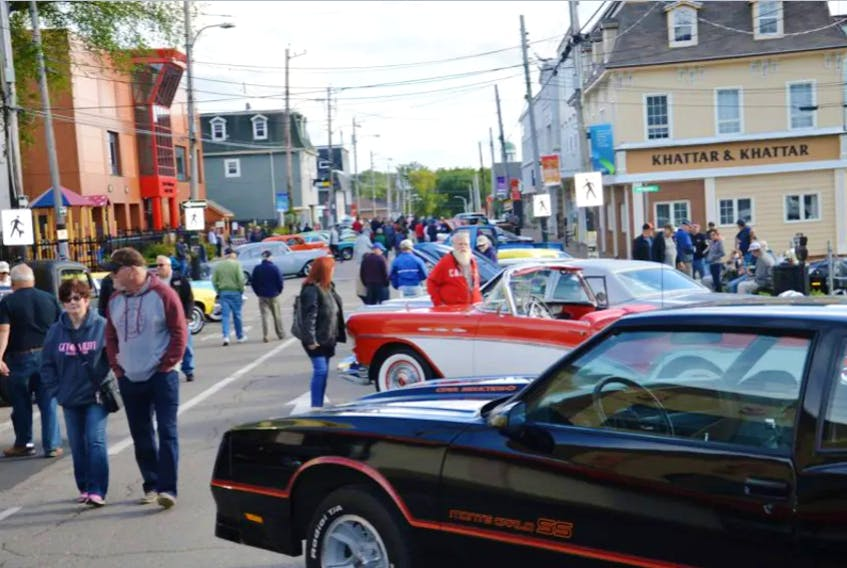 Classic cars will return to Charlotte Street in Sydney this Saturday when the Cape Breton Classic Cruisers host their fifth annual Fall Classic. Shown here is a file photo from the 2017 event. CAPE BRETON POST FILE