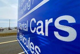 A rental vehicle sign at St. John's International Airport. Keith Gosse/The Telegram