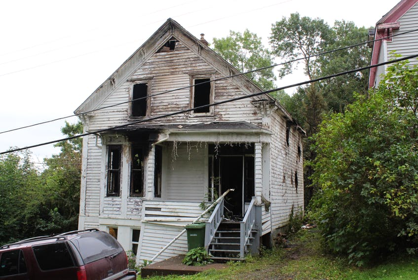 Fire heavily damaged this two-storey house in Pictou.
