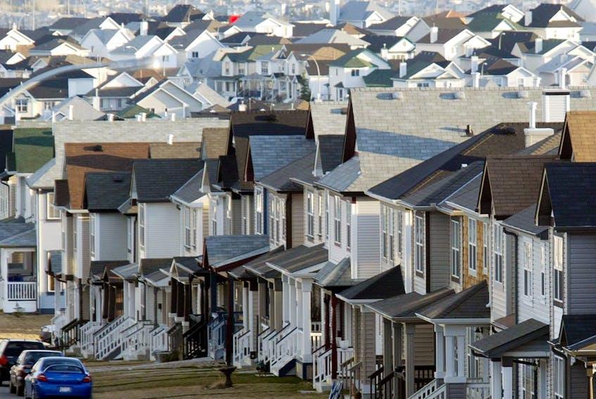 A housing development in northwest Calgary.