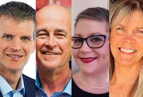 Avalon riding candidates (from left) Matthew Chapman (Conservative), Ken MacDonald (Liberal incumbent), Carolyn Davis (NDP), Lainie Stewart (PPC).