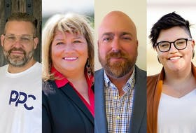 Labrador 2021 federal election candidates (from left) Shannon Champion (PPC), Yvonne Jones (Liberal incumbent), Shane Dumaresque (Conservative), Amy Norman (NDP).