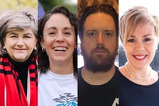 Long Range Mountains 2021 federal election candidates (from left), Gudie Hutchings (Liberal Incumbent), Kaila Mintz (NDP), Darrell Shelley (PPC), Carol Anstey (Conservative).