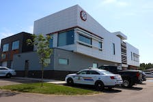 The Stratford Emergency Services Centre, pictured, houses EMS, fire and RCMP services for the community. A complaint has been filed with Elections Canada over its use as a polling station for the federal election.