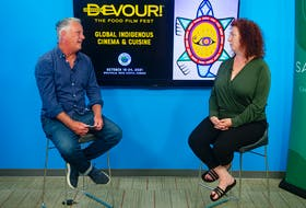 Chronicle Herald columnist John DeMont talks with Devour! managing director Lia Rinaldo on Tuesday, Sept. 14, 2021.