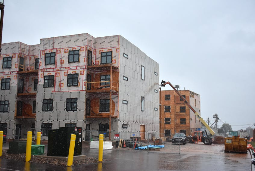 These two buildings under construction on Kensington Road are part of a 90-unit residential development, which received a $19.2-million loan from the federal government to provide affordable housing under the Canada Housing and Mortgage Corporation's definition of affordable.