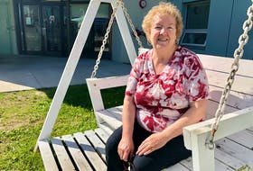 Irene Dixon sits on one of the swinging benches outside her senior apartment complex in downtown Sydney. As a senior on a fixed income, Dixon can't think of any campaign platforms discussing senior care or elder needs by any party running in Canada's upcoming election on Monday. NICOLE SULLIVAN/CAPE BRETON POST