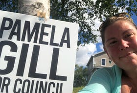 Pamela Gill, a candidate in Corner Brook's municipal election, has had six of her election signs go missing. She hopes the action is not out of malice, but says it is costly to run a campaign.