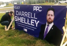 Just a day after putting up this election sign in Corner Brook on Sept. 13, PPC candidate Darrell Shelley was informed that it has been destroyed. He's offering a $5,000 reward for information that leads to an arrest and conviction of those involved.