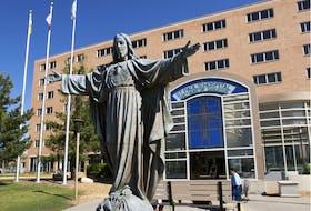 Statue outside St. Paul's Hospital in Saskatoon, SK.